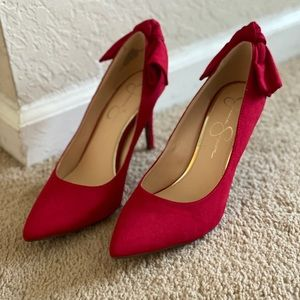 *BRAND NEW* Jessica Simpson Red Bow Heels Size 8.5